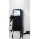 Ipod Nano 2 G De 8 Gb Cargador Cable Estuche Y Audifonos