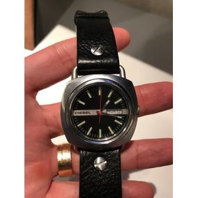 7d0251ef3b7 Relógio Diesel (réplica) Com Pulseira De Couro - Relógios De Pulso ...