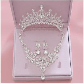 Corona Collar Set De Arete Para Novia O Xv Años