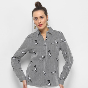 70a0df95e Camisa Facinelli Listra Pássaro Feminina por Zattini