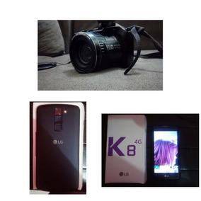 Vendo Uma Câmera Fotografica E Um Celular Da Lg K8.