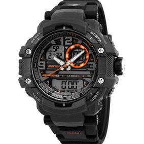 4e8d4bfcfb091 Relogio Technos Mormaii M0951 8l Preto laranja Grande N.f - Relógios ...