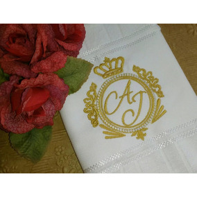 27 Lembrancinha Casamento Lavabo Bordada Personalizada