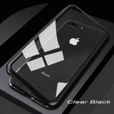 Capa Case Magnético Metal Bumper Vidro iPhone 7 | 7 Plus