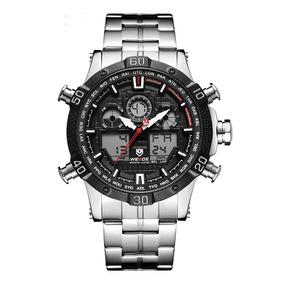 Relógio Masculino Esportivo Digital Weide 6901 Aço Original
