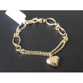 91b7cb0005638 Corrente Italiana Em Ouro E Pingente Coração De Diamante!! - Joias e ...