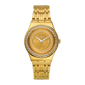 a27f3d1cb12 Relogio Swatch Feminino Dourado Novo - Relógio Swatch Feminino no ...