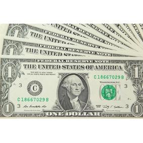 20 Vinte Cédulas Notas De 1 Dólar Americano Nova Original