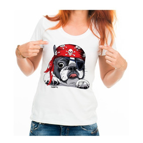 Bulldog Frances Femea Branca - Camisetas e Blusas para Feminino no ... 1895c99bc81b7