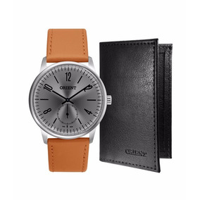 Kit Relógio Masculino Orient Mbsc0003-kc78g2mg Analógico 3 A