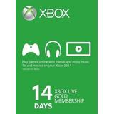 Trial Membresias 14 Dias Xbox Live Gold Para Xbox One Codigo