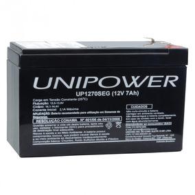 Bateria Estacionária Vrla 12v 7ah Unipower Para Segurança Up