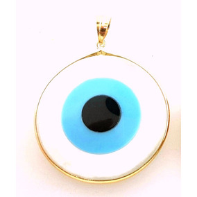 47b01d5fa5487 Pingente Olho Grego Ouro - Pingentes de Ouro no Mercado Livre Brasil