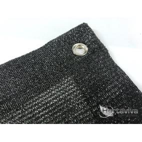 Tela Sombrite Preta 80% - 8m X 12m Com Bainha E Ilhós
