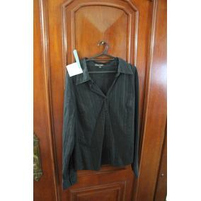 = Roupa Lote 620 Mulher Camisa Social Usa Preta Listrada G P