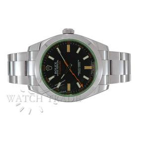 Relógio Rolex Milgaus Vidro Verde Ref.: 116400gv
