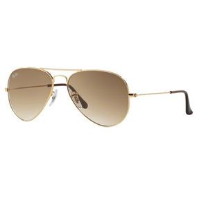 15b24cc1f416e Marrom 001 51 Ray Ban Aviator 55 Rb3025 Dourado - Óculos De Sol Ray ...
