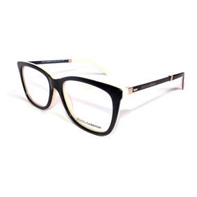 Armacao Oculos Feminino Grau Grande Preto Dolce Gabbana - Óculos no ... 589894a282