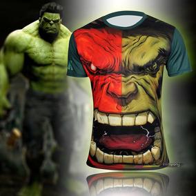 Playera Corta Comics Superheroes Hulk Hombre Xtreme P