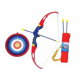 Kit Arco E Flecha Infantil Com Alvo + 3 Flechas Com Ventosas 3ce2b3be0361f