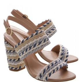 ef204661a Sandalia Arezzo Salto Grosso Feminino - Sapatos no Mercado Livre Brasil