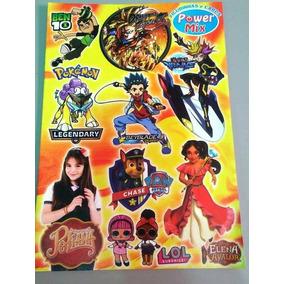 Álbum De Prêmios Power Mix Figurinhas E Cards (50 Pacotes)