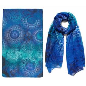 Pashmina Desigual, Bufanda Azules , Pareo