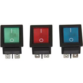 Chave Gangorra 4 Polos ( On / Off ) 16a 220v Com Neon