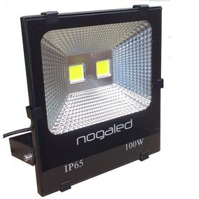 Refletor 100w Cob 6500k Preto Holofote 1ª Linha Nogaled