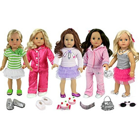 18inch Doll Ropa Set De 20piezas Incluye Ropa, Zapatos, A