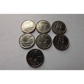 7 Moedas 10 Centavos 1990 Raras