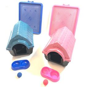 2 Camas Casinha Plastica Cachorros Pequeno Porte