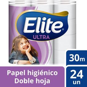 Papel Higiénico Elite 24u Doble Hoja Ultra 30m Tienda Elite