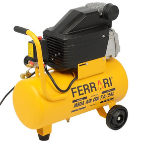 Compressor Ar Portátil Mega Air 7,6 Pés 24l Ferrari Bivolt