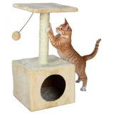 Rascador De Gato C/escondite Juguete Torre Casa Arbol