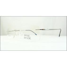8e780d59b1964 Armação Discreta Prata Invisível Óculos Grau Titanium A438 · R  69 99