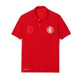 Camisa Polo Internacional Bordado Torcedor 10 Personalizado d3b1365f0badc