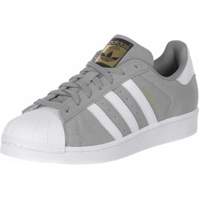 check out 79768 8356f Zapatillas adidas Superstar Gris Gamuza Indonesia 35 A 40