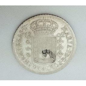 Moeda Antiga Brasileira De Prata 640 Réis De 1802