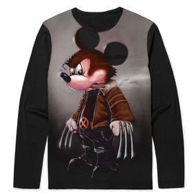 a5b8a3ccb Camiseta Manga Longa Do Mickey Infantil - Calçados