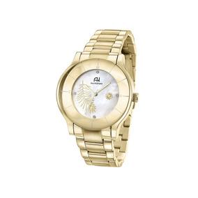 Relógio De Pulso Ana Hickmann Feminino Dourado Ah29098h