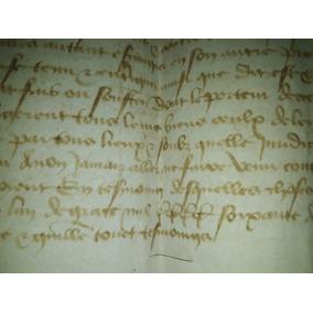 Antigo Documento Manuscrito Medieval *pergaminho* Ano 1462 .