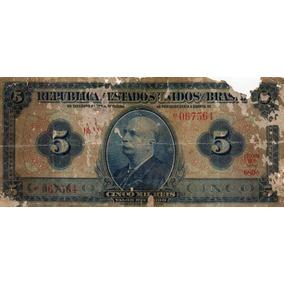 Cédula Cinco Mil 5000 Réis R 100 No Estado