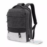 Mochila Notebook Tablet Zom Usb Zb-346bk Impermeable 15.6