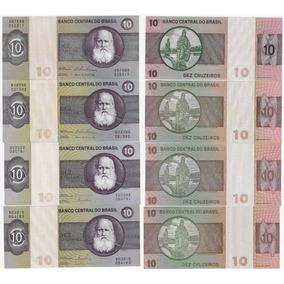 Cédulas 138 139 140 141 - 10 Cruzeiros 1974/1980 Todas Fe
