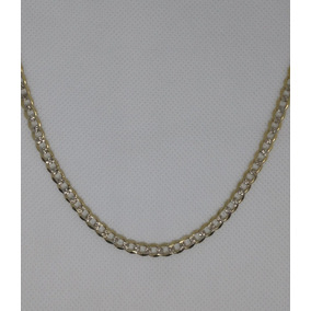 Cadena Para Caballero Tejido Cubano Diamantado Oro 10 K