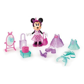Disney Minnie Mouse Fashion Fun Muñeca Con Accesorios Imc