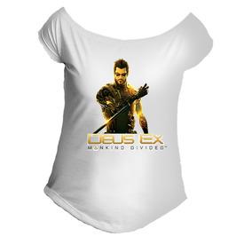 086d7c3d6c Camiseta Allsgeek Deus Ex Mankind Divided Game Gola Canoa 02