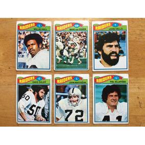 176585fa35d2f 1977 Topps Mexican Nfl Raiders De Oakland Set 6 Tarjetas