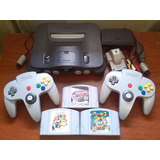 Nintendo 64 N64 Consola 2 Controles 1 Juego Todo Original